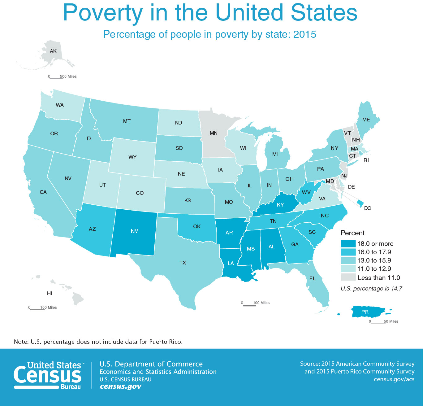 Map: Poverty in the United States