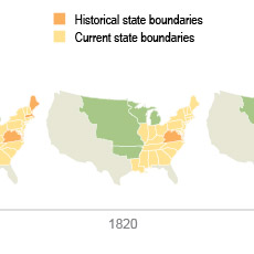 A thumbnail image icon for U.S. Territory and Statehood Status by Decade, 1790-1960