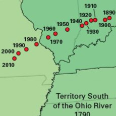 A thumbnail image icon for Center of Population and Territorial Expansion, 1790-2010