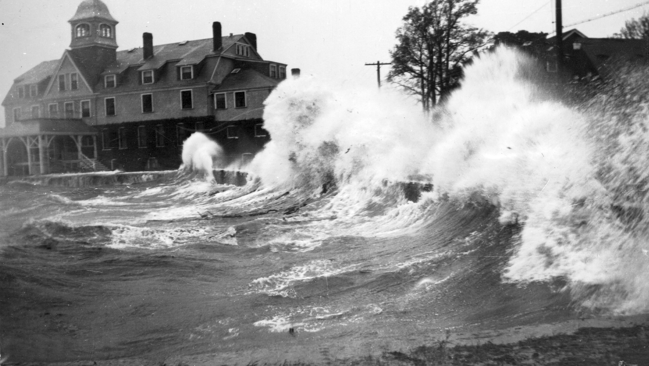 Waves Batter Woods Hole