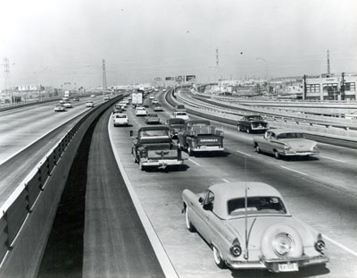Interstate 10, the Santa Monica Freeway, in 1963