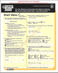 Census 2000 Short form