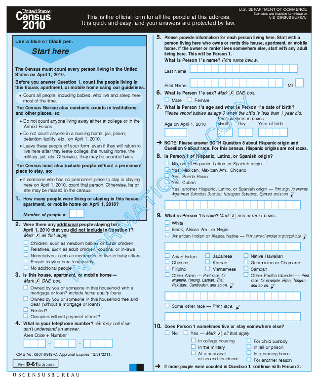 2010 History U S Census Bureau