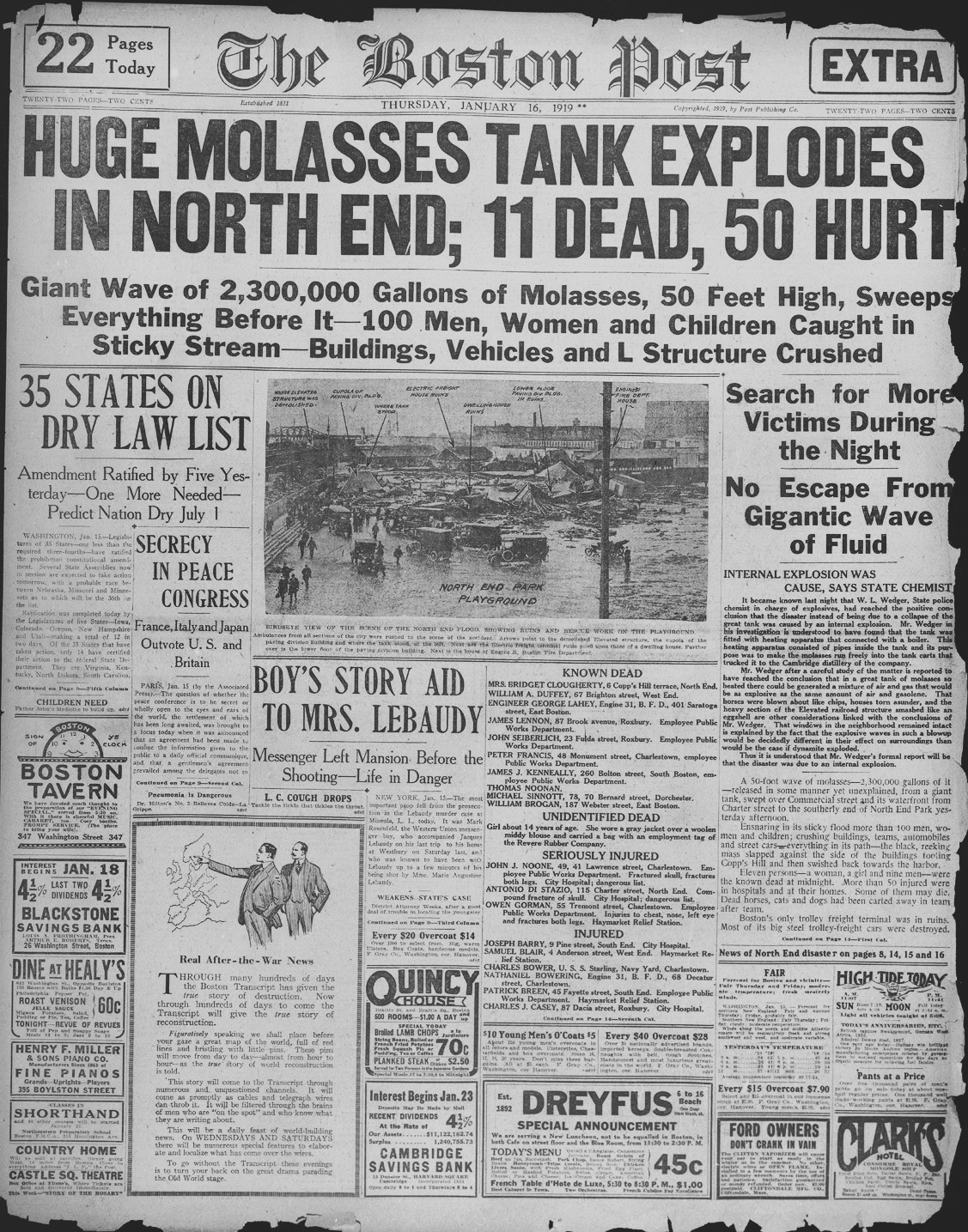 Boston Molasses Flood Newspaper