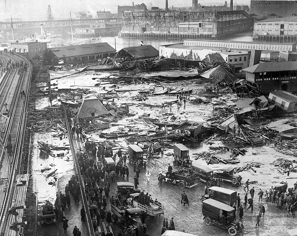 Aftermath of the Boston Molasses Flood
