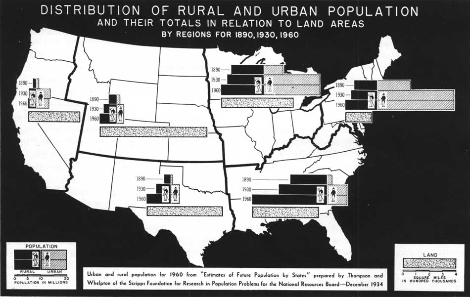 Urban And Rural Areas History US Census Bureau - Map of rural areas in us