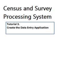 The third tutorial in this series. This tutorial shows how to create a data entry application to enter data for the sample questionnaire.