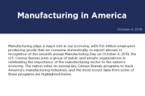 Census Bureau programs track America's manufacturing industries, this is the most recent data from some of these programs.