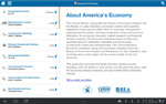 Screenshot of America's Economy App: About