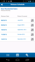 Screenshot of America's Economy App: Release Schedule